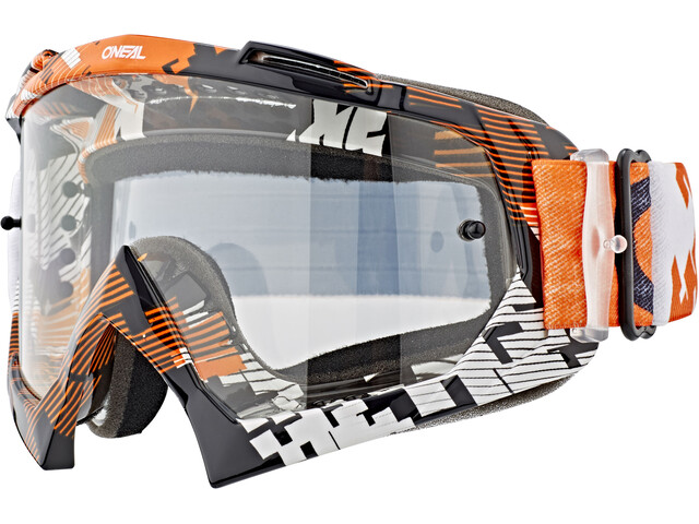 O'Neal B-10 Goggles pixel orange/white-clear